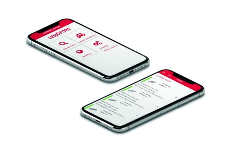 VRM Search added to Lesjöfors' Mobile Catalogue App