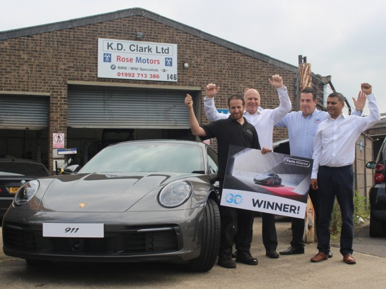 Customer amazed to win Porsche 911 Carrera in The Parts Alliance's latest promotion