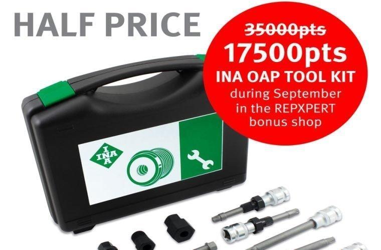 REPXPERT members get 50% off INA OAP tool kit in bonus shop offer