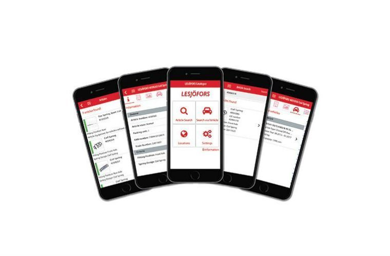 Lesjöfors catalogue app grows with hybrid applications